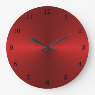 Red Stell Wall Clock