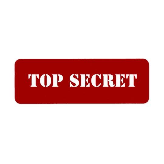 Red Stencil Top Secret