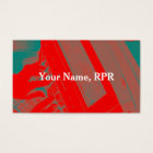 Red Steno Machine Court Reporter Business Card