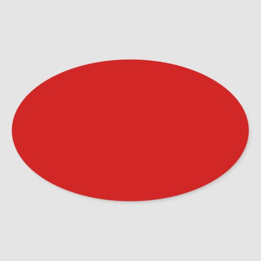 Red Oval Sticker