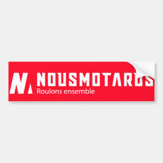 Red Sticker Nousmotards Right-angled Bumper Sticker