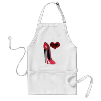 Red Stiletto and 3D Heart apron