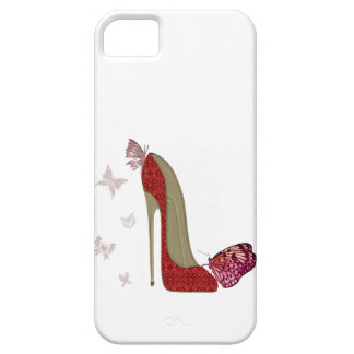 Red Stiletto and Butterfly's Art iPhone 5 Case