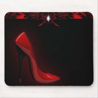 red Stiletto Bridal Shower bachelorette party Mouse Mat