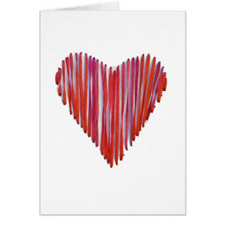Red Stitched Heart Card