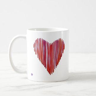 Red Stitched Heart Left-handed Mug