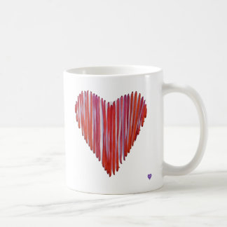 Red Stitched Heart Mug