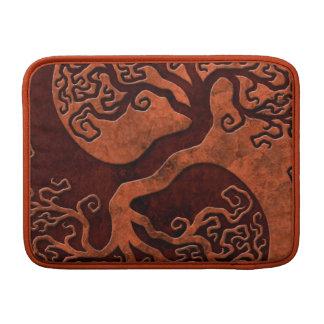 Red Stone Yin Yang Tree MacBook Sleeve