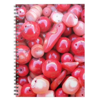 red stones spiral notebook