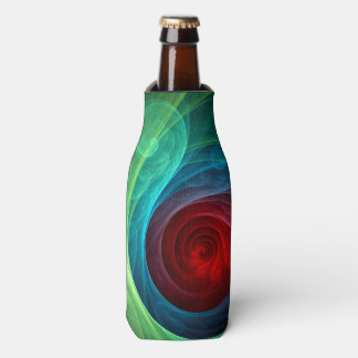 Red Storm Abstract Art Bottle Cooler
