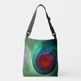 Red Storm Abstract Art Cross Body Crossbody Bag