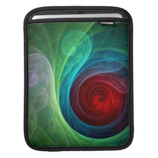 Red Storm Abstract Art iPad Sleeve