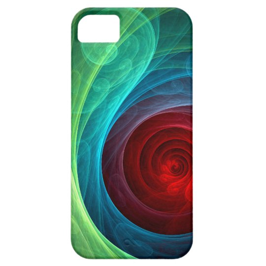 Red Storm Abstract Art iPhone 5 Barely There iPhone 5 Case