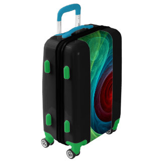 Red Storm Abstract Art Luggage