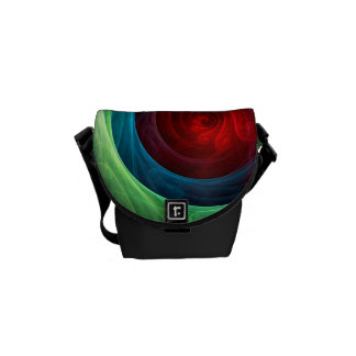 Red Storm Abstract Art Mini Bag Commuter Bag