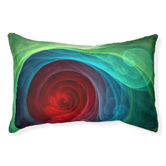 Red Storm Abstract Art Pet Bed
