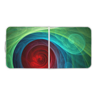 Red Storm Abstract Art Pong Table