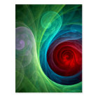 Red Storm Abstract Art Postcard