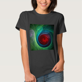 Red Storm Abstract Art Tshirt
