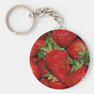Red Strawberries Keychain