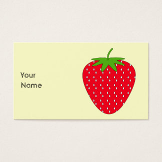 Red Strawberry. Business Card
