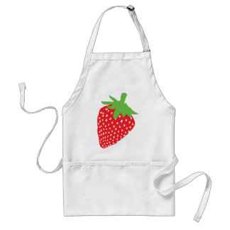red strawberry icon standard apron