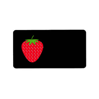Red Strawberry. Label