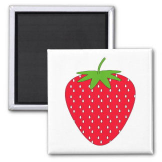 Red Strawberry. Square Magnet