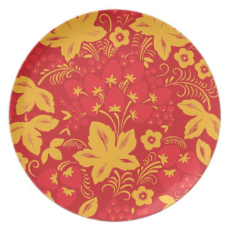 Red Strawberry Maple Dinner Plate