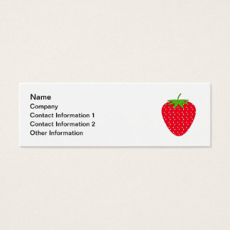 Red Strawberry. Mini Business Card