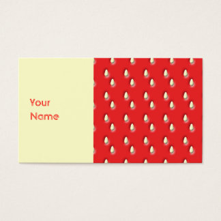 Red Strawberry Pattern. Business Card