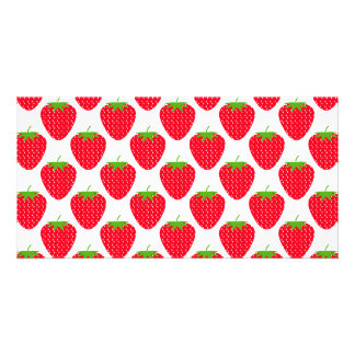 Red Strawberry Pattern. Card
