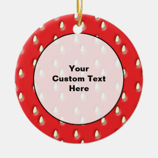 Red Strawberry Pattern. Christmas Ornament