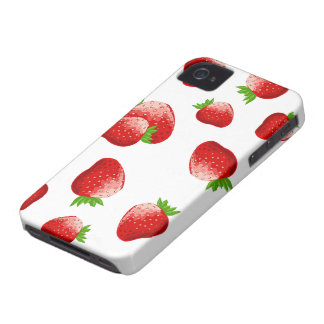 Red Strawberry pattern iphone 4 case