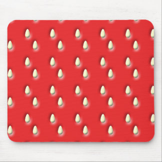 Red Strawberry Pattern Mouse Pads