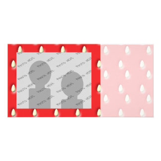 Red Strawberry Pattern Photo Card