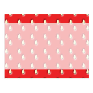 Red Strawberry Pattern. Postcard
