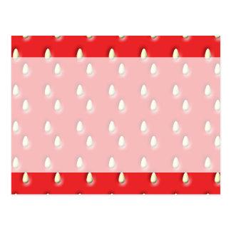 Red Strawberry Pattern. Postcard