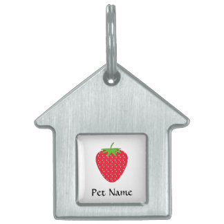 Red Strawberry. Pet Tag