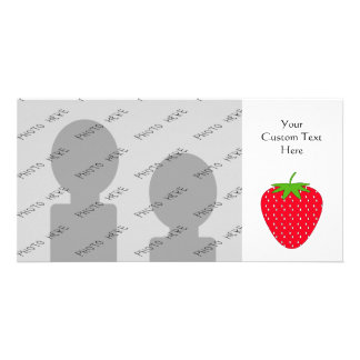 Red Strawberry Custom Photo Card