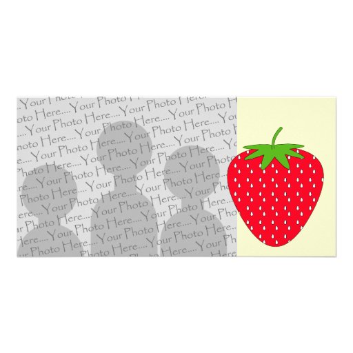 Red Strawberry. Photo Cards