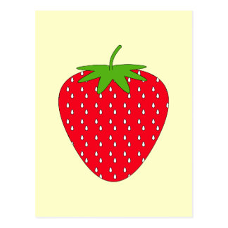Red Strawberry. Postcard