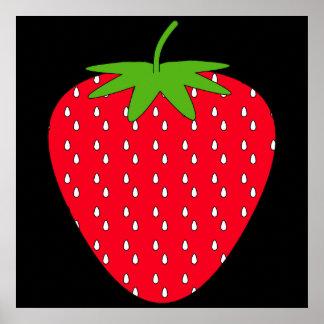 Red Strawberry. Print