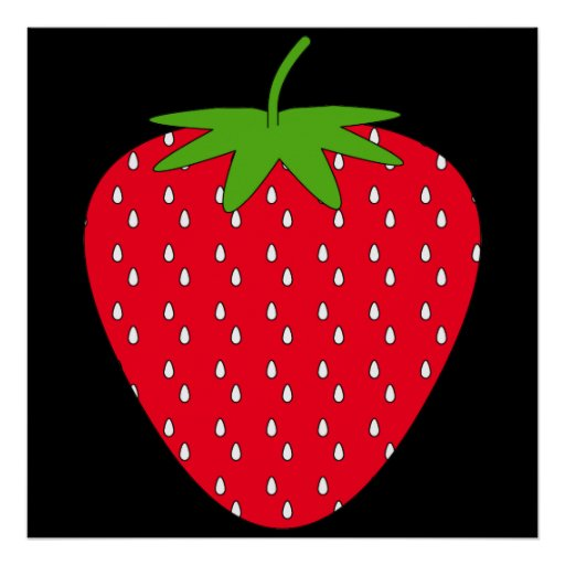 Red Strawberry. Print