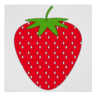 Red Strawberry. Poster