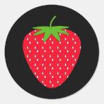 Red Strawberry. Round Sticker