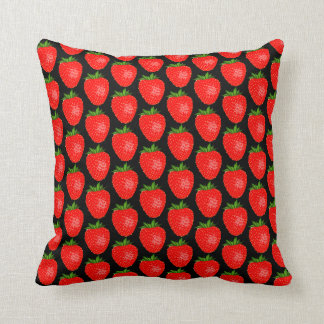 Red Strawberry World Funky Throw Pillow / Cushion