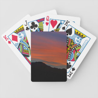 Red Streak Sunset Bicycle Playing Cards