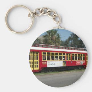 Red Streetcar Key Ring