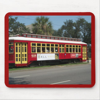 Red Streetcar Mouse Mat